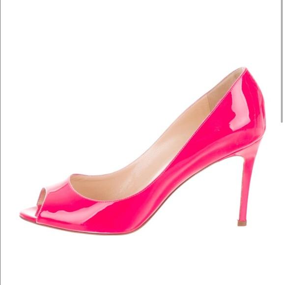 4f3955e96ca Christian Louboutin Hot Pink Patent Peeptoe